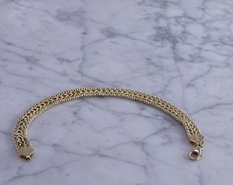 """14K Woven  Gold Bracelet (7 1/16"""")"""