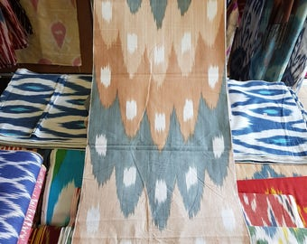 Hand made ikat fabric. Ikat Fabric by the yard, Hand Woven Fabric, Uzbek Fabric