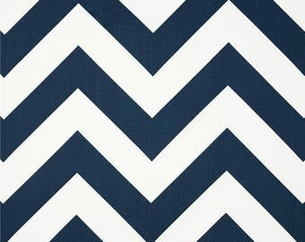 Premier Prints Fabric | Zippy Oxford | Chevron Fabric | Outdoor Fabric | Upholstery Fabric | Navy fabric | Fabric by the yard | Storm Zippy