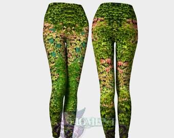 Ivy Leggings - Poison Ivy Leggings, Plus Size Leggings, Activewear, Vine Leggings, Fae Leggings, Cosplay leggings, Plus Size Cosplay, Gift