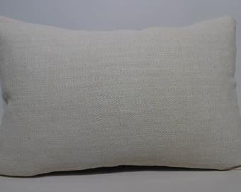 Anatolian Kilim Pillow Sofa Pillow 16x24 White Kilim Pillow Turkish Kilim Bohemian Kilim Pillow Bedroom Kilim Pillow Cushions  SP4060-1113