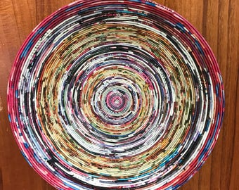 Upcycled Magazine Bowl