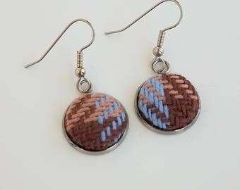 Wrap Scrap Jewelry - Earrings - Pretty Paisley - Outlandish - Wrap Scrap - Babywearing - Handwoven - Tartan - Plaid - Scotland
