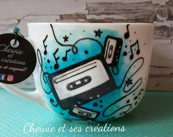 Vintage cassette tape mug
