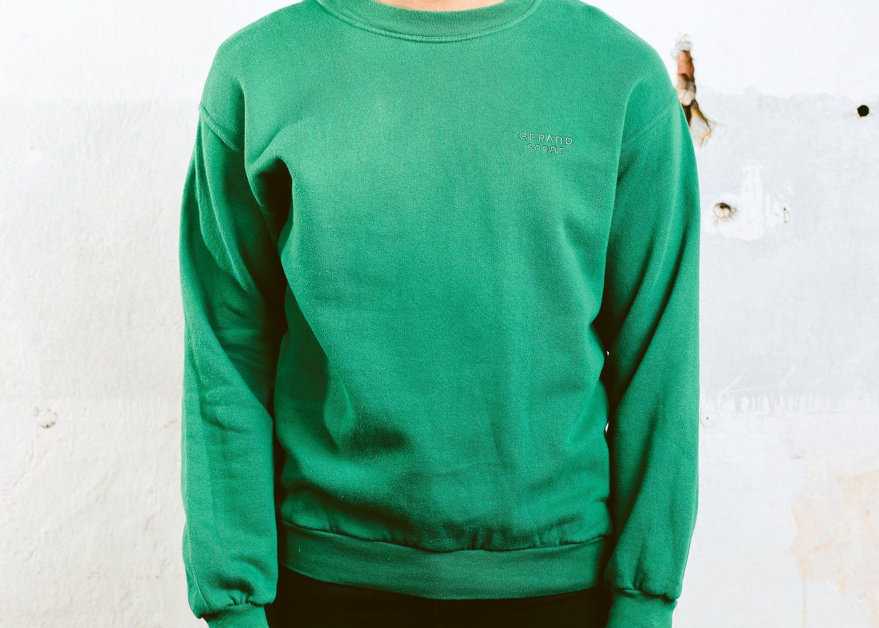 Vintage Green Sweatshirt . 90s Mens Sweatshirt Minimalist Baggy ...