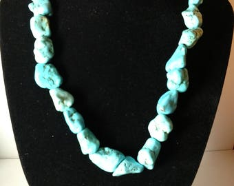 Lee Sands Turquoise Blue Magnesite Necklace.