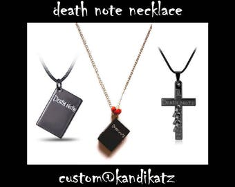 Death Note Necklace,L, Misa, Ryuk, Near, Yagami,Birthday,Gift,Kawaii,Easter Gift,Clock,Watch