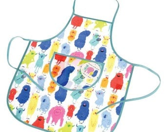 Personalised Monsters Apron, painting , baking, waterproof, personalized apron