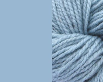 Wool, light blue | bulky 2-ply worsted quick-knit pure wool yarn 100g/130m