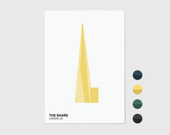 The Shard, London Print | London Artwork | London Illustration | Architecture Print | City Print