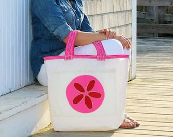 The Weekender - Recycled Sail Bag - Pink Sand Dollar