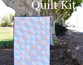The Emmy Crib Quilt Kit, Crib Quilt Kit, Baby Quilt Kit, Quilt Kit, Pastel fabric, Dear Stella Fabric, Children's Quilt kit,