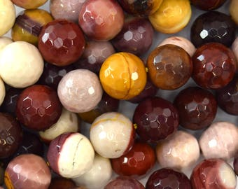 """12mm faceted mookaite round beads 15.5"""" strand mookite 39577"""
