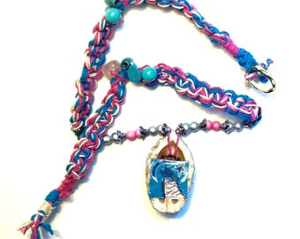 Howl At The Moon Wolf Hemp Necklace