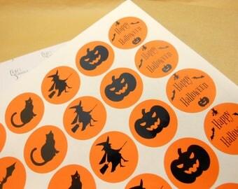 Halloween labels, Halloween party, Halloween tags, Halloween stickers, Halloween Favour, happy Halloween, diy Halloween, Bat stickers, witch