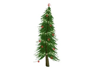 Printable Christmas Tree Design Downloadable File