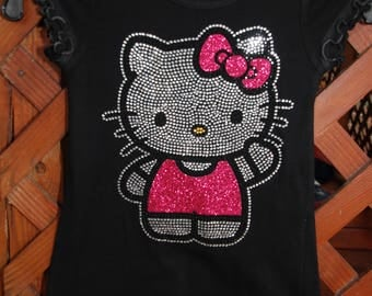 Hello Kitty rhinestone & glitter child's  bling dress