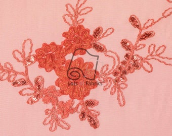 Ribbon Lace Fabric By The Yard 3D Metallic Floral Pop Out