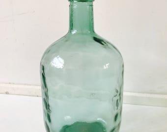 Vintage Viresa bottle. Retro vase viresa. Bottle with original cork. 1960/70's glassware. Design. VT wonen.
