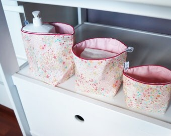 New size reversible fabric baskets