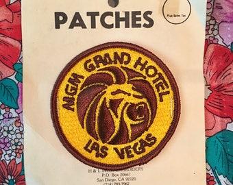 MGM Grand Hotel Las Vegas vintage circular patch