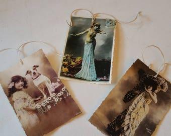 3 vintage postcards