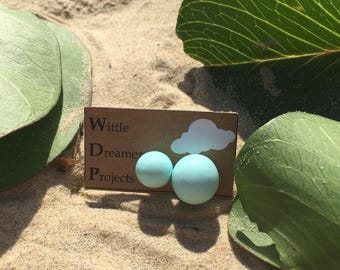 Mint Double Ball Earrings