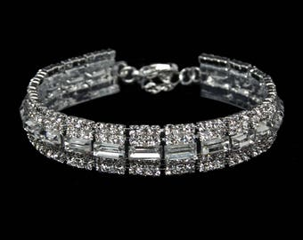 Emmy Clear Crystal Competition Bracelet for IFBB and NPC Bikini Fitness Bodybuilding Contests