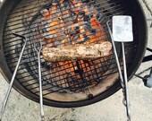 Hand Forged 3 PC BBQ Tool Set - Blacksmith Made - Spatula, Meat Fork, Steak Turner -  Iron BBQ Tools