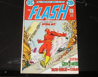 The Flash #221 1973 Time Schedule For Disaster Good+ Condition