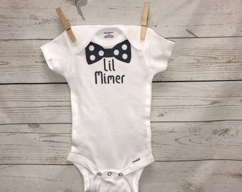 Last name onesie, bow tie onesie, personalized baby boy, baby boy onesie, custom onesie, baby boy clothing, bodysuit, baby shower gift, gift