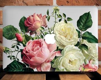 Unique Roses Case for MacBook Air 13 Hard Case Floral Macbook Case MacBook 12 Case MacBook Air 11 Case MacBook Pro Retina 13 Case WCm229