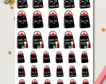 Sephora Shopping Planner Stickers | Make Up Stickers | Shopping Spree | Beauty Stickers