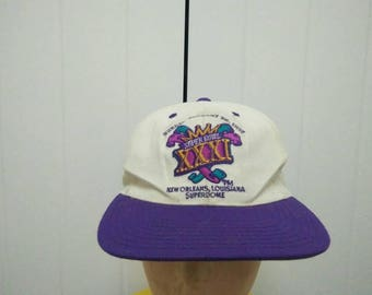 Rare Vintage Super Bowl XXXI January 97' NEW ORLEANS, Louisiana Superdome Cap Hat Free size fit all
