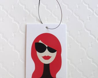 100 PRICE TAGS HANG Tags Retail Tags Boutique Tags Cute Black Sunglasses Girl Merchandise Tags Clothing Tags With 100 Plastic Loops