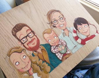 Personalized family likeness for five subjects, DILISA family portrait