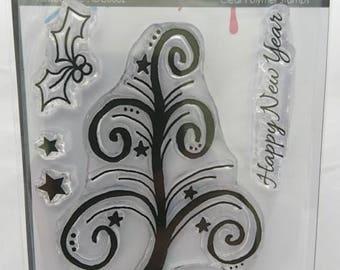 Peace Tree A7 stamp set by Imagine Design Create