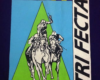 Vintage 1993 TRIFECTA Thoroughbred Bet On It horse racing betting gambling track racing horses tee t-shirt size XL
