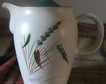 1960s Denby Greenwheat Teapot