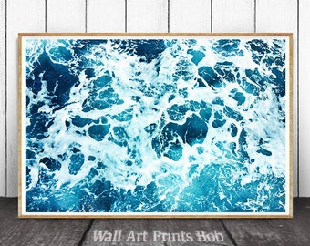 Ocean Print, Ocean Waves, Ocean Art Print, Ocean Water Print, Ocean Decor, Sea Decor,  Ocean Photography, Ocean Wall Art, Ocean Waves Print
