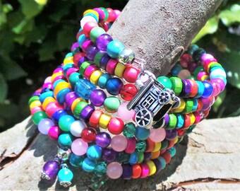 Gypsy Wrap Bracelet, Gypsy Memory Wire Bracelet, Bohemian Bracelet, Boho Bracelet, Traveller Bracelet, Gypsy Jewelry, Bohemian Wrap Bracelet