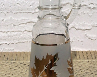 Cruet Golden Foliage Libby Glass