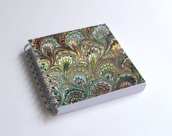 "Notebook 4x4"" decorated with motifs of marbled papers - 26"