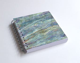 "Notebook 4x4"" decorated with motifs of marbled papers - 24"