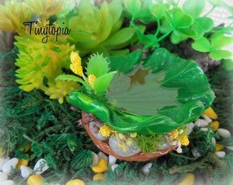 Miniature Fairy Garden Leaf Pond Terrarium Accessory