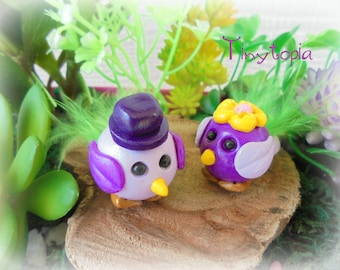 Fairy Garden Love Birds ~ Set of 2
