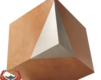 Modern Geometric Cremation Urn , Artistic Funeral urn,memorial  Urn for Adult ashes UK