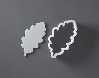 Oak leaf cookie cutter, autumn cookies, fall cookies