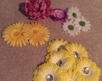 13 Assorted Faux Flowers