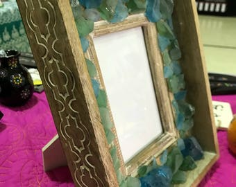 Beach Glass photo frame